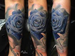 by blue blue rose tattoos on forearm rose roses black grey pocket