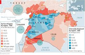 Maps Syria by Syria U0027s Drained Population