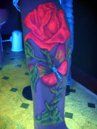 glow in the dark tattoo how long does it last glow in the dark rose and butterfly uv blacklight tattoo