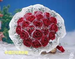 Red Wedding Bouquets New Beautiful Red Wedding Bouquet Artificial 20 Rose Flowers