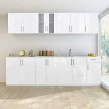 Pcs High Gloss White Kitchen Cabinet Unit With Sink Base  Cm - Sink base kitchen cabinet