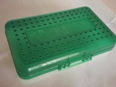 spacemaker pencil box vintage 90s spacemaker pencil box in purple and clear made in