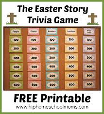 printable easter story trivia game easter story trivia games