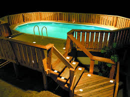 outdoor pool deck lighting classic outdoor pool design with white low voltage solar square deck