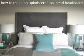 Grey Upholstered Headboard How To Make A Queen Upholstered Headboard 25344