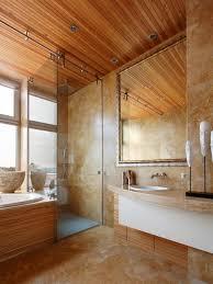 rolling glass shower door houzz