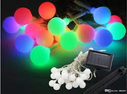 cheap solar string light colorful 20 led frosted small