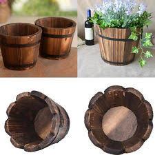 whiskey barrel planter ebay