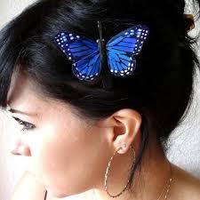 butterfly hair clip blue butterfly hair clip feather butterfly clip whimsical hair