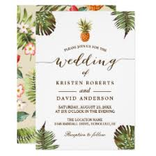tropical wedding invitations tropical wedding invitations announcements zazzle