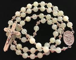 battle saints bracelets michael rosary etsy