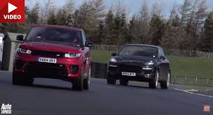 porsche cayenne or range rover sport 542hp range rover sport svr faces its arch enemy the porsche