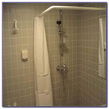 corner shower curtain rod with ceiling support chairs home