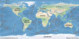 map world seas oceans and seas britannica
