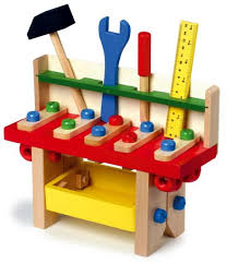 Toy Wooden Tool Bench Work Bench Toy Tool Kit Set The Childminding Shop