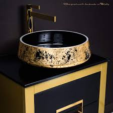 bathroom vanity vessel sink combo luxury italian bathroom fixture