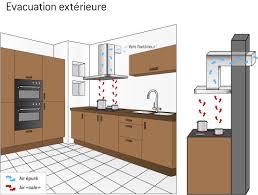 hotte cuisine moteur déporté hotte à extraction extérieure ooreka