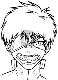 how to draw kaneki ken from tokyo ghoul step by step drawing