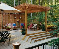 Pinterest Deck Ideas by Pictures Of Composite Deck With Arbor And Privacy Screen From