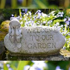 welcome frog garden ornament cast onefold uk