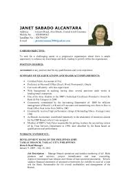 Position Desired Resume Detailed Resume Final Janet Accountant