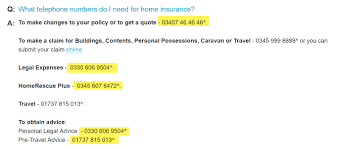 home insurance numbers
