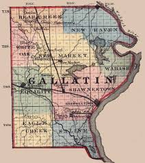 Illinois Map With Counties by Gallatin County Illinois Maps And Gazetteers