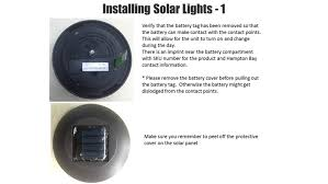 How Long To Charge Solar Lights - hampton bay black solar led pathway outdoor light 6 pack nxt