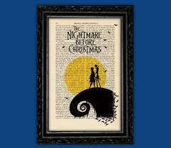 nightmare before christmas moon print tim burton halloween