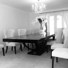 black and wood dining table high gloss wood dining table eclipse bespoke high gloss or wood