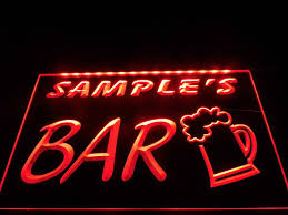 home bar wall decor personalize bar sign led light custom name sign home bar beer pub