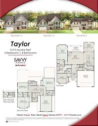 savvy homes floor plans the taylor floor plan by savvy homes http www savvyhomes com