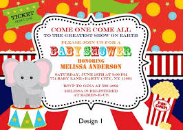 circus baby shower baby shower invitation baby shower invitations best 10 vintage