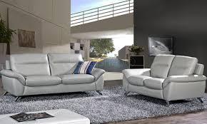 ensemble de canapé ensemble canapé cuir design 3 2 coloris gris clair juliano