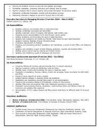 Executive Secretary Job Description Resume by Rincy Sankaran Resume