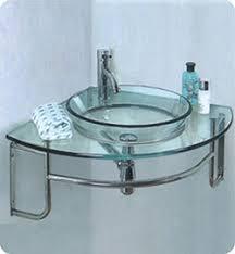 Glass Bathroom Vanity 24 Fresca Ordinato Fvn1040 Corner Mount Modern Glass Bathroom