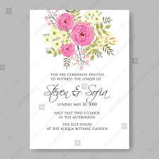 wedding invitations vector pink roses bridal flowers marriage wedding invitations vector