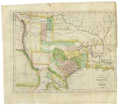 Map Of The State Of Texas 190th Anniversary Of The Constitution Of The Free State Of