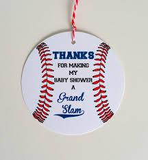 baby shower baseball theme set of 12 baseball baby shower favor tag baseball theme baby