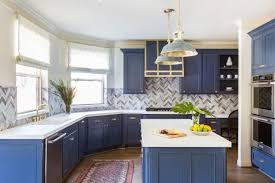 colored cabinets for kitchen 10 blue tiful kitchen cabinet color ideas hgtv