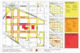 Washington Dc Map Pdf by Streetscape Plan The Gw Neighborhood The George Washington