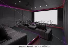 home theater interior home theater interior 3d illustration stock illustration 318898679