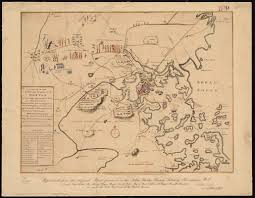 1775 Map Of Boston by A Plan Of The Town And Harbour Of Boston And The Country Adjacent