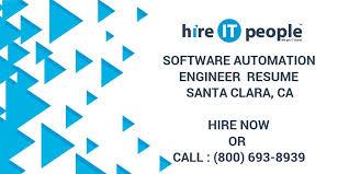 Qa Automation Engineer Resume Software Automation Engineer Resume Santa Clara Ca Hire It