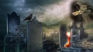halloween at the graveyard wallpaper other wallpaper better