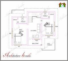 floor house plan 1000 sq ft kerala home design and vasthu plans