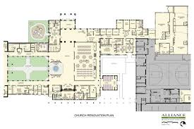 renovation of existing church plans and conceptual drawings