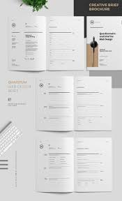 creative design brief questions questionnaire and brief for web desi on serious modern brochure