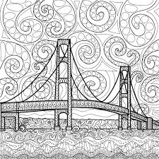 island coloring page printable coloring page zentangle mackinac island by grannybag