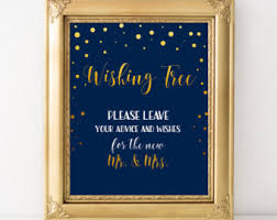 wedding wishes and advice wishing tree sign etsy